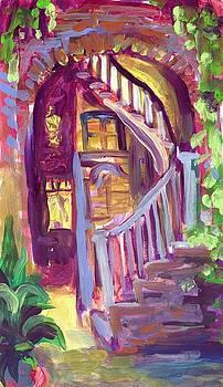 New Orleans Patio by Saundra Bolen Samuel