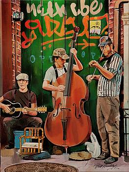 New Orleans Street Band by Bill Dunkley