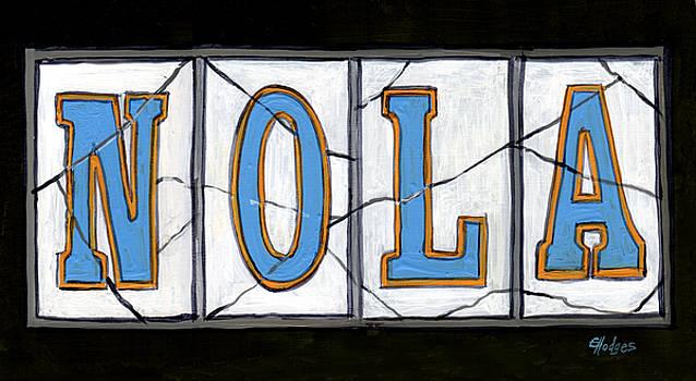New Orleans Street Tiles by Elaine Hodges