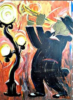 New Orleans Trumpet Player by Kerin Beard