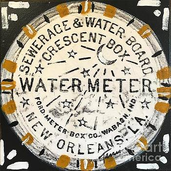 New Orleans Water Meter in Black and Gold by Tami Curtis