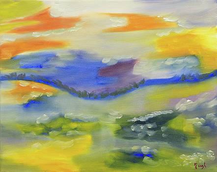 Orange and Lemon Sherbet Sunset by Meryl Goudey