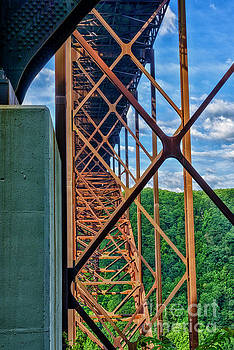 New River Gorge Bridge Buttress by Thomas R Fletcher