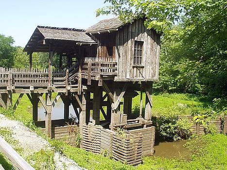 New Salem's Water Mill by John Pavon