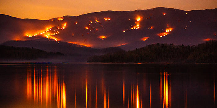 Holston Mountain Burning by Greg  Booher