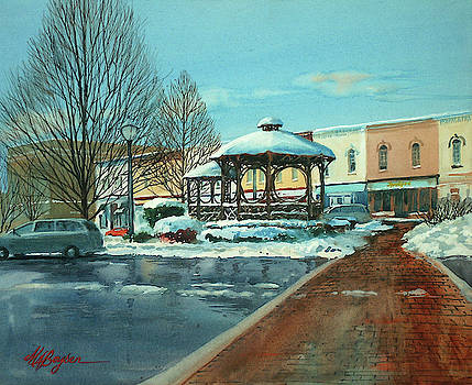 Triangle Park in Winter by Maryann Boysen