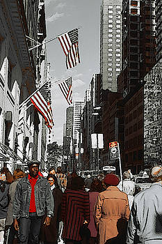 New York 5th Avenue by Art America Gallery Peter Potter