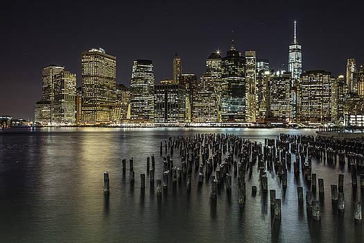 New York and Pier  by John McGraw