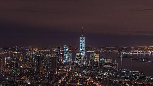 New York at Night by Vanessa Espinoza