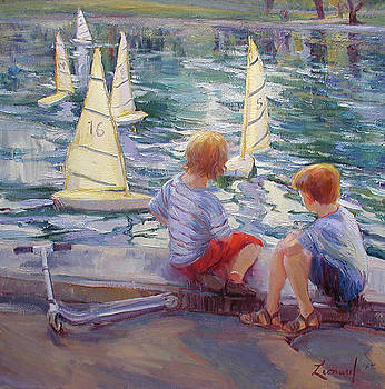 New York Boats by Diane Leonard