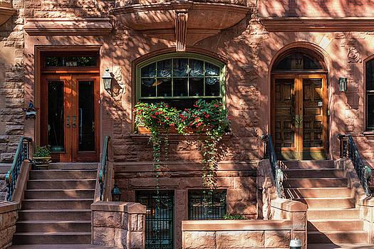 New York Brownstones by Cornelis Verwaal