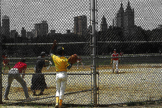 New York Central Park Baseball by Art America Gallery Peter Potter