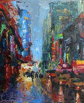 Svetlana Novikova - New York city 42nd street painting