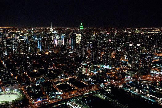 New York City at night by John Majoris
