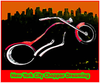 New York City Chopper Dreaming Red jGibney The MUSEUM Zazzle Gifts FA by The MUSEUM Artist Series jGibney