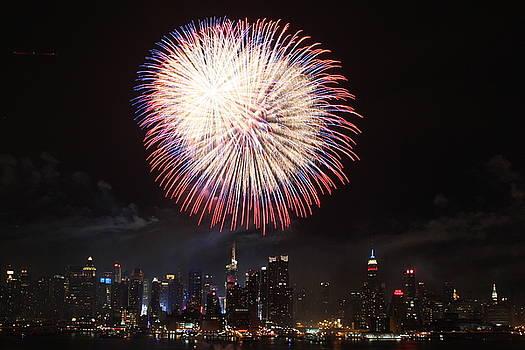 New York City Fireworks by Elena Ingram