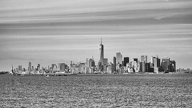New York City from the Staten Island Ferry by Frank Morales Jr