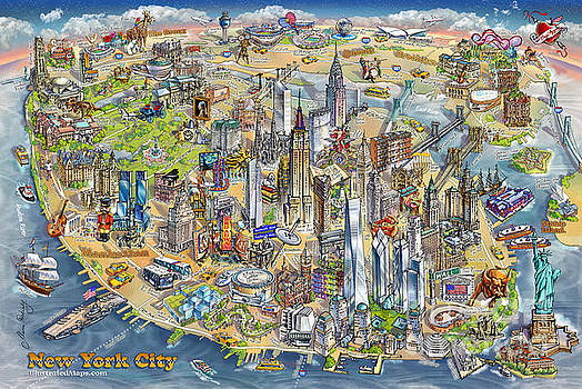 Maria Rabinky - New York City Illustrated Map