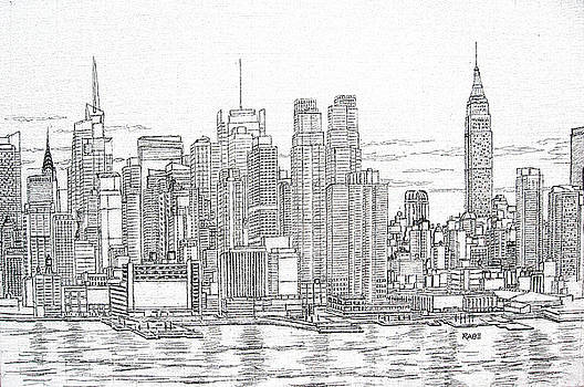 New York City - Manhattan Skyline by Mike Rabe