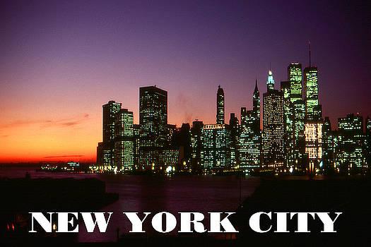 Art America Gallery Peter Potter - New York City - Manhattan Skyline Poster