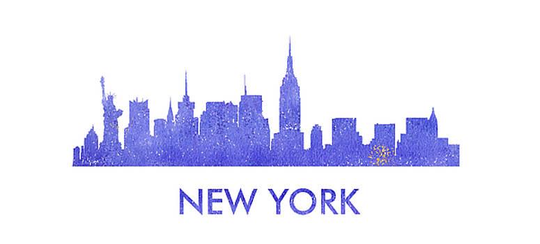 Vyacheslav Isaev - New York city purple skyline _titled