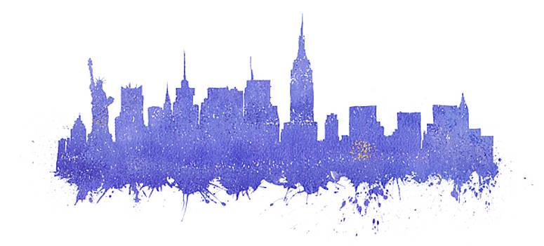 Vyacheslav Isaev - New York city purple skyline