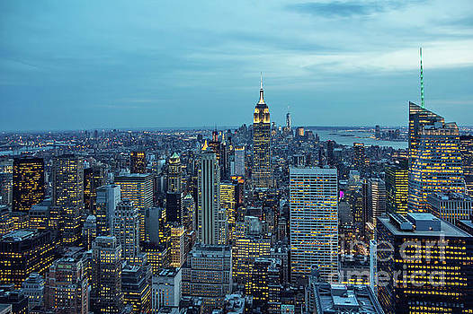 New York City Skyline by Joan McCool