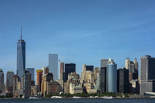 New York City Skyline Staten Island Ferry by KM Corcoran