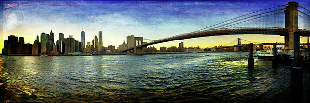 Joann Vitali - New York City Skyline Sunset with Brooklyn Bridge