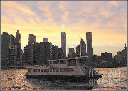 New York City Skyline - The Golden Hour by Dora Sofia Caputo Photographic Art and Design