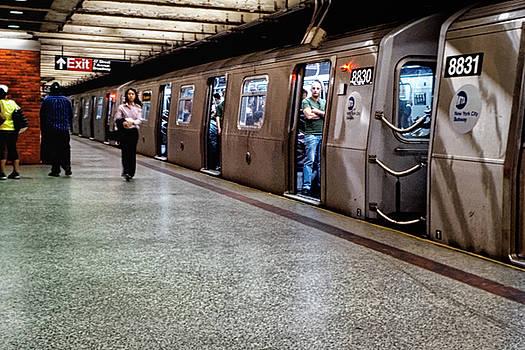 New York City Subway Stare by Lars Lentz