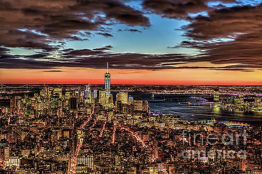 New York Electric Twilight by Rafael Quirindongo