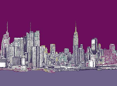 New York in purple by Adendorff Design