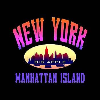 New York Manhattan Island Design by Art America Gallery Peter Potter