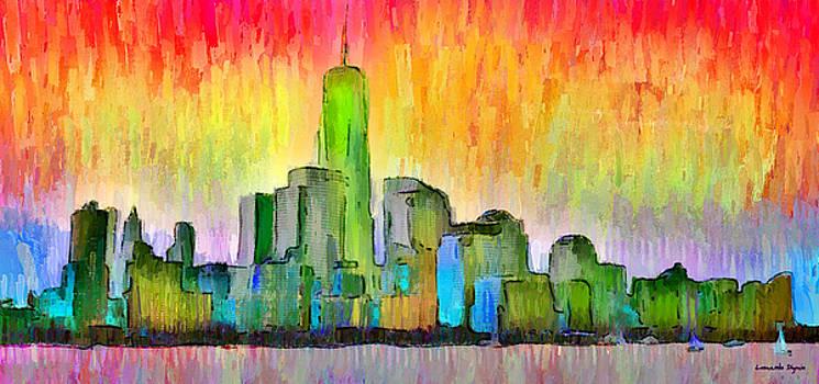 New York Skyline 6 - PA by Leonardo Digenio