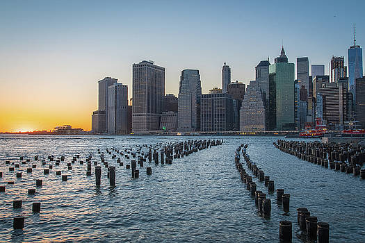 New York Skyline at Sunset by Jesse MacDonald