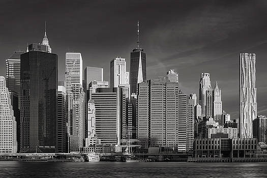 New York Skyline Infrared by Jerry Fornarotto