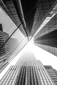 New York skyscrapers on a foggy day. by Andriy Stefanyshyn