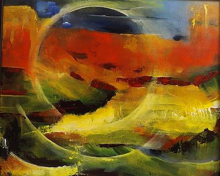 New Zealand Abstract Landscape by Chris Keenan
