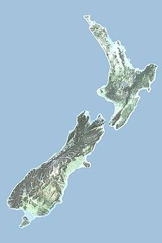 New Zealand Map by Ian Grasshoff