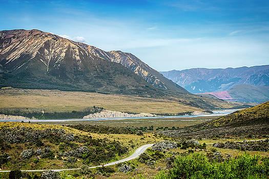 New Zealand South Island Landscape by Joan Carroll