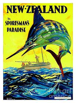 Peter Ogden - New Zealand Travel Poster 1920s Harry Roundtree