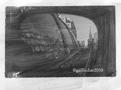 Newbury Street Reflection by Gail Fischer