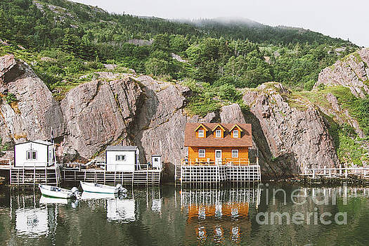 Newfoundland Boat House in Quidi Vidi Harbour by Christy Woodrow