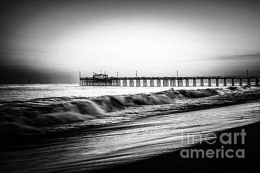 Paul Velgos - Newport Balboa Pier Black and White Picture