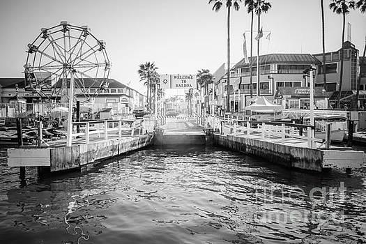 Paul Velgos - Newport Beach Ferry Dock Black and White Photo