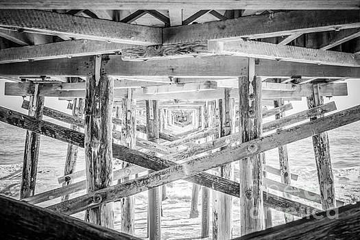 Paul Velgos - Newport Beach Pier Black and White Photo