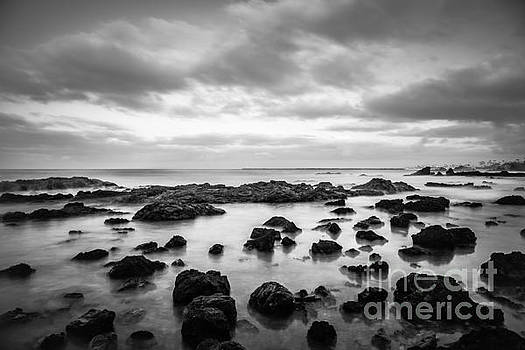 Paul Velgos - Newport Beach Tide Pools Black and White Photo