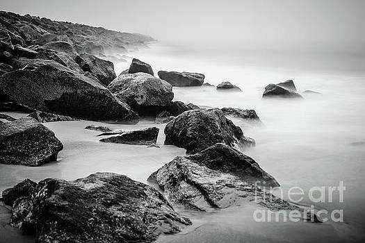 Paul Velgos - Newport Beach Wedge Black and White Photo