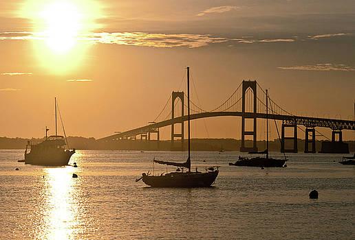 Newport Bridge at Sunset by Susan Schumann